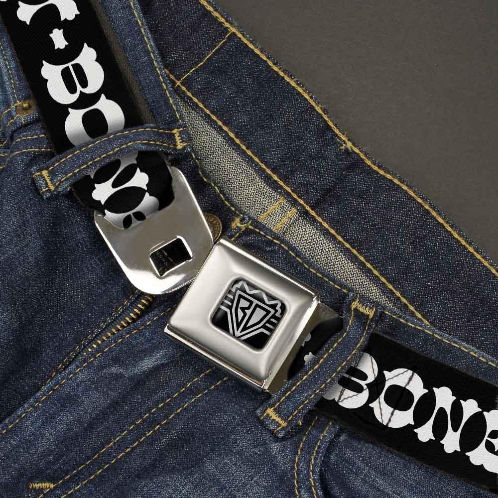 1.5 Wide-32-52 Inches T//Bone Text Buckle-Down Unisex-Adults Seatbelt Belt Steak XL