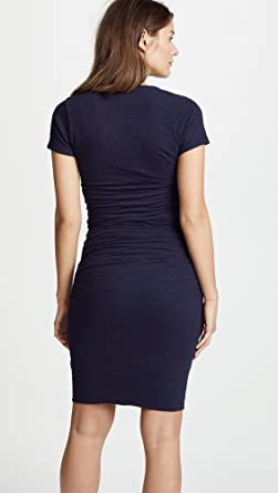 970429fe3f9 Amazon.com  Monrow Women s Maternity Shirred Tee Dress  Clothing