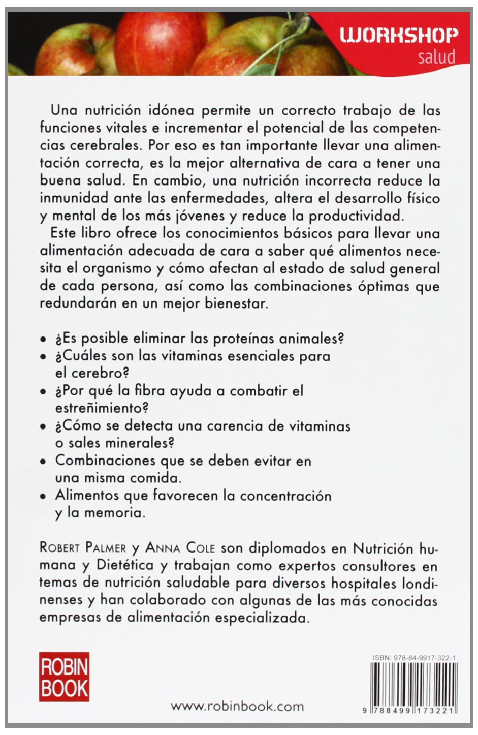La alimentación energética (WORKSHOP - Salud) (Spanish Edition): Robert Palmer, Anna Cole: 9788499173221: Amazon.com: Books