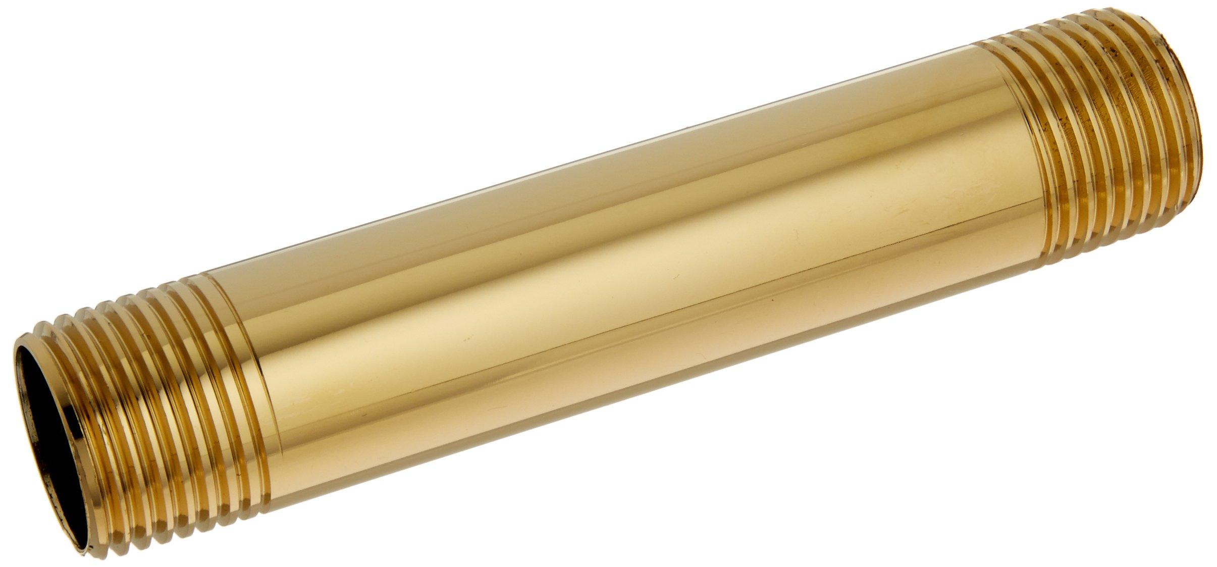 Jones Stephens N17050 1/2 X-Inch 4 Polished Brass Nipples