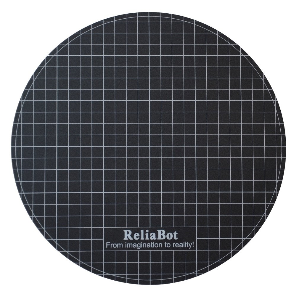 ReliaBot Delta 3D Printer Build Surface Sticker for Diameter 240mm (9.44') Round Glass Plate and Heatbed