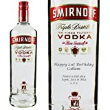 Personalised Smirnoff Red Vodka 100cl Engraved Gift Bottle