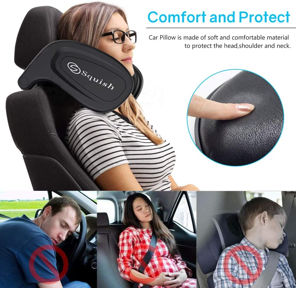 Car Neck Pillow Head Pillow Car Seat Pillow Child Travel Sleeping Cushion squish Car Headrest Pillow Car Neck Head Shoulder Sleep Cushion Car Side Pillow for Kids Adults Elders Teenagers
