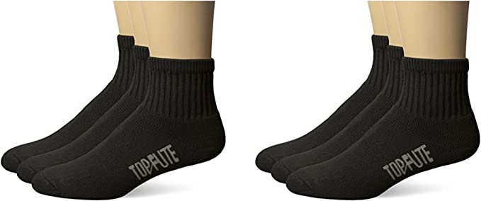ECCO Mens 3-Pack Ankle With Mesh Top Sock,Black,10 to 13