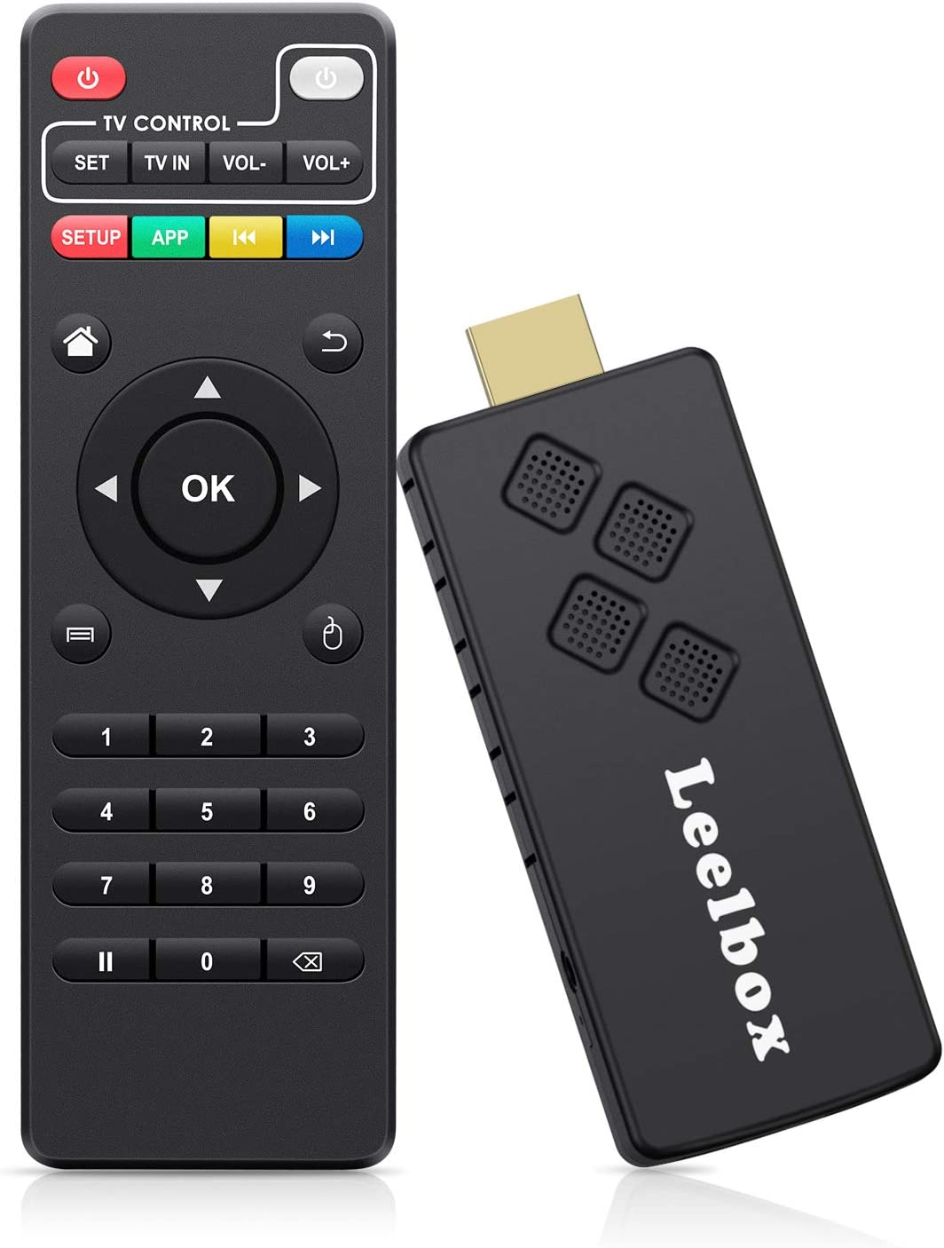 Leelbox TV Stick Android TV Box Portátil 2GB/16GB con Dolby/Full HD/ 2.4G WiFi/ 3D/4K/H.265 Streaming Media Player: Amazon.es: Electrónica