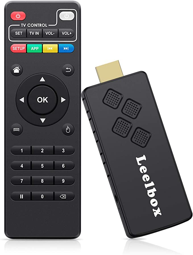 Leelbox TV Stick Android TV Box Portátil 2GB/16GB con Dolby/Full HD/ 2.4G WiFi/ 3D/4K/H.265 Streaming Media Player: Amazon.es: Electrónica