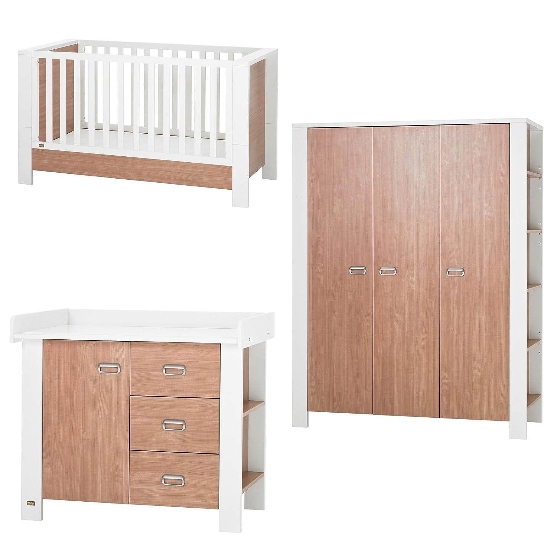 Herlag Kinderzimmer Modern Nußbaum/weiß 3-teilig 3 türig: Amazon.de ...