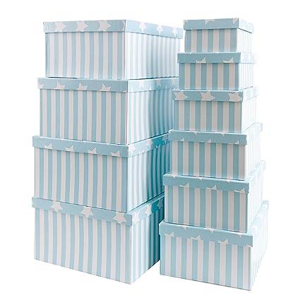 Caja de cartón para regalos o para almacenamiento, de cartón, con tapa, cartón