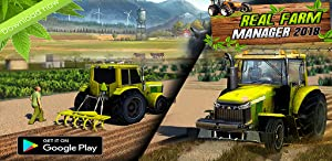 Real Farm Manager 2018- Farming Simulator Games Free for Kids from Wacky Studios -Parking, Racing & Talking 3D Games