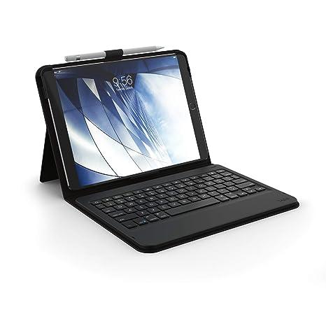 0e616e2d577 Amazon.com: ZAGG Messenger Folio Case Non-Backlit Bluetooth Keyboard Apple  iPad Pro 10.5 - Black (Renewed): Electronics