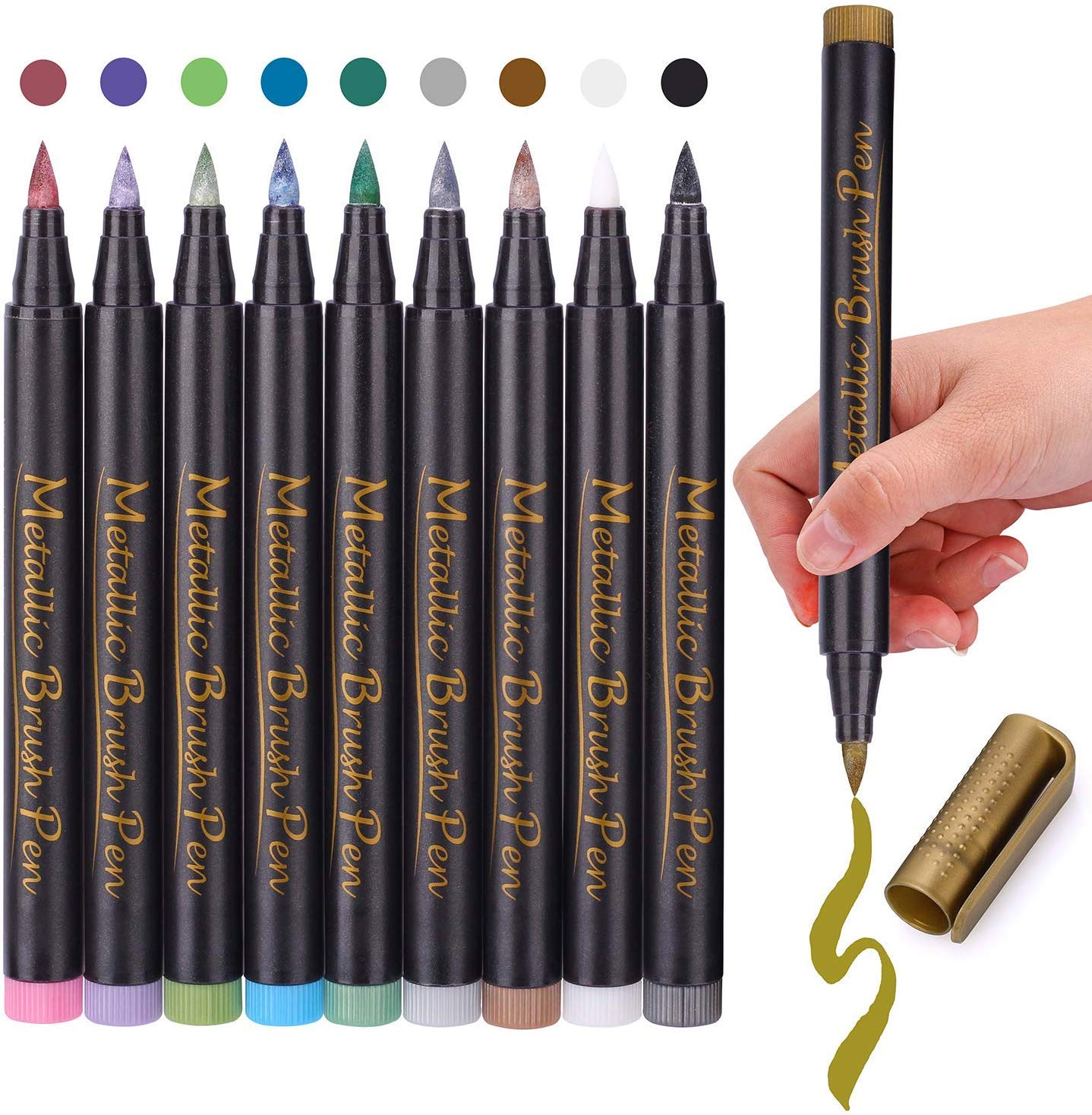 New Assorted Colored Metallic Permanent Paint Markers Pen Paint By Number Pen