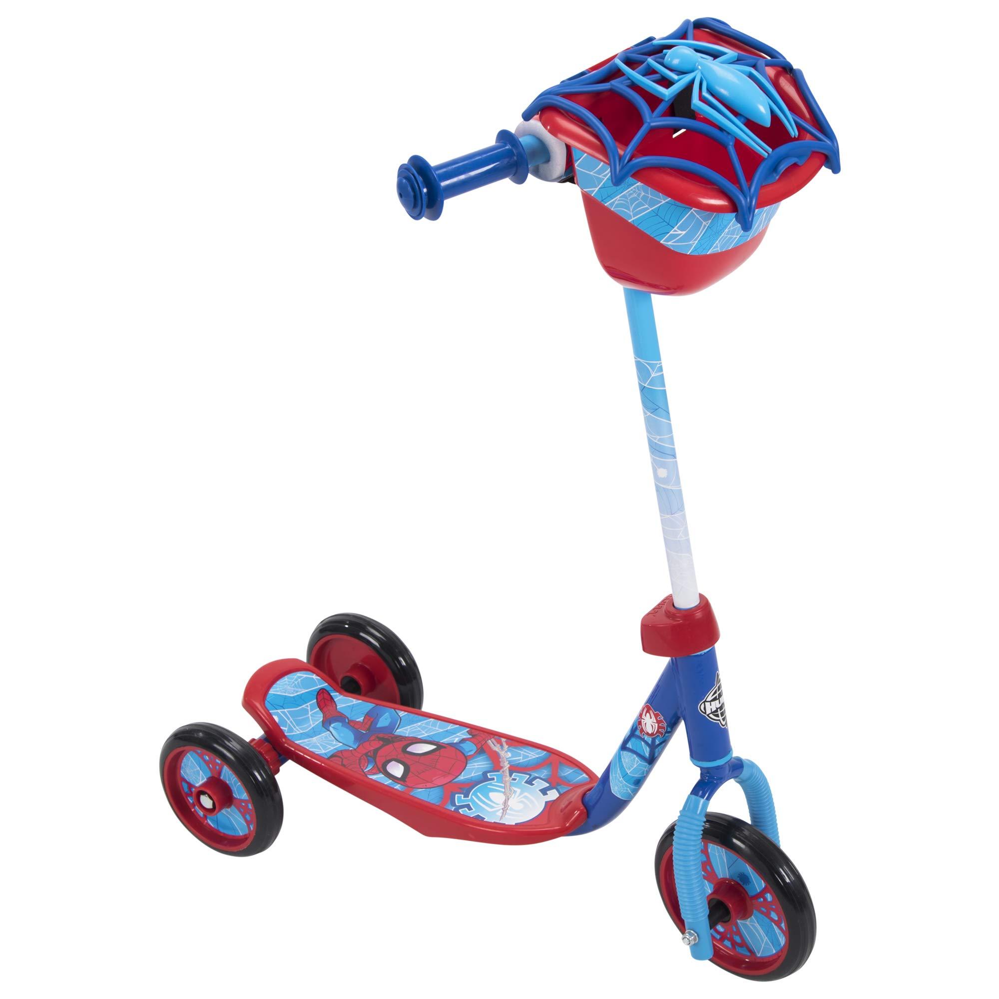 Huffy Kids - Patinete preescolar para niños Disney Pixar Cars & Toy Story, Star Wars, Marvel Spider-Man, juguete de 3 ruedas