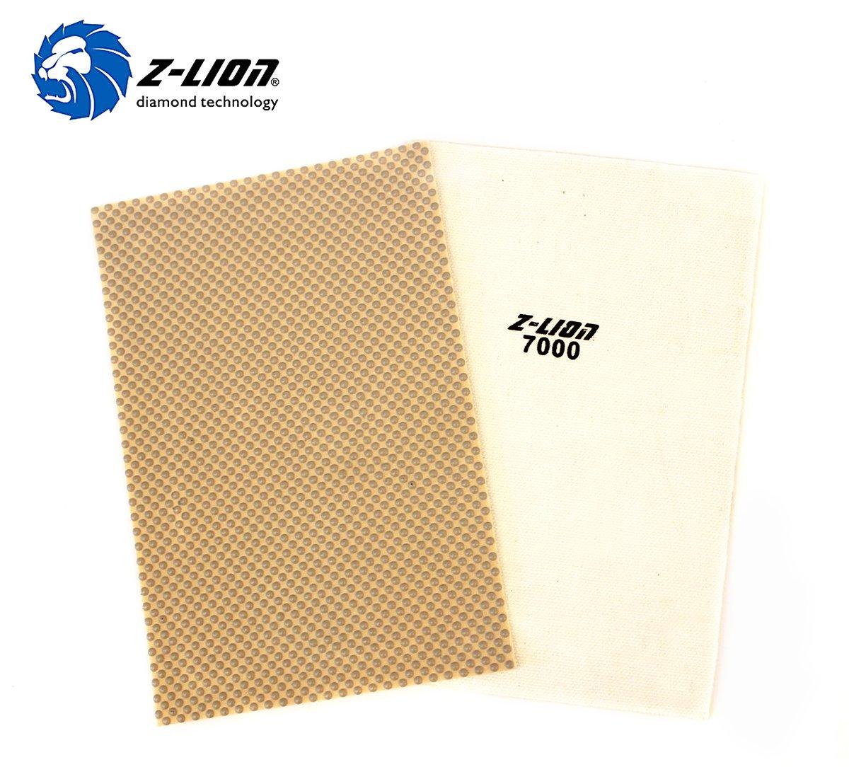 Z-Lion Diamond Resin Abrasive Paper Sheets Diamond Sandpaper for Grinding Stone Glass Ceramic Diamond Tool(4 Pcs/lot)