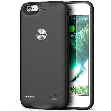 Smiphee Funda Batería iPhone 6/6s, Carcasa Batería Portátil 2500mAh para iPhone 6/6s (4.7 Pulgadas) Carcasa Cargador Extendida/Modo de Entrada por ...