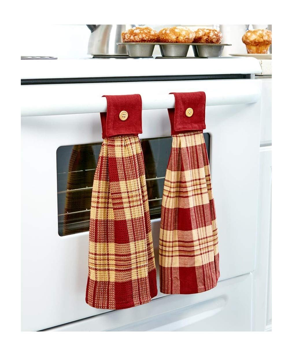 The Lakeside Collection Hanging Country Kitchen Towels