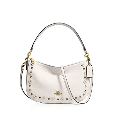 2cebd8aabc Amazon.com  COACH Women s Floral Rivets Detail Chelsea LI Chalk ...