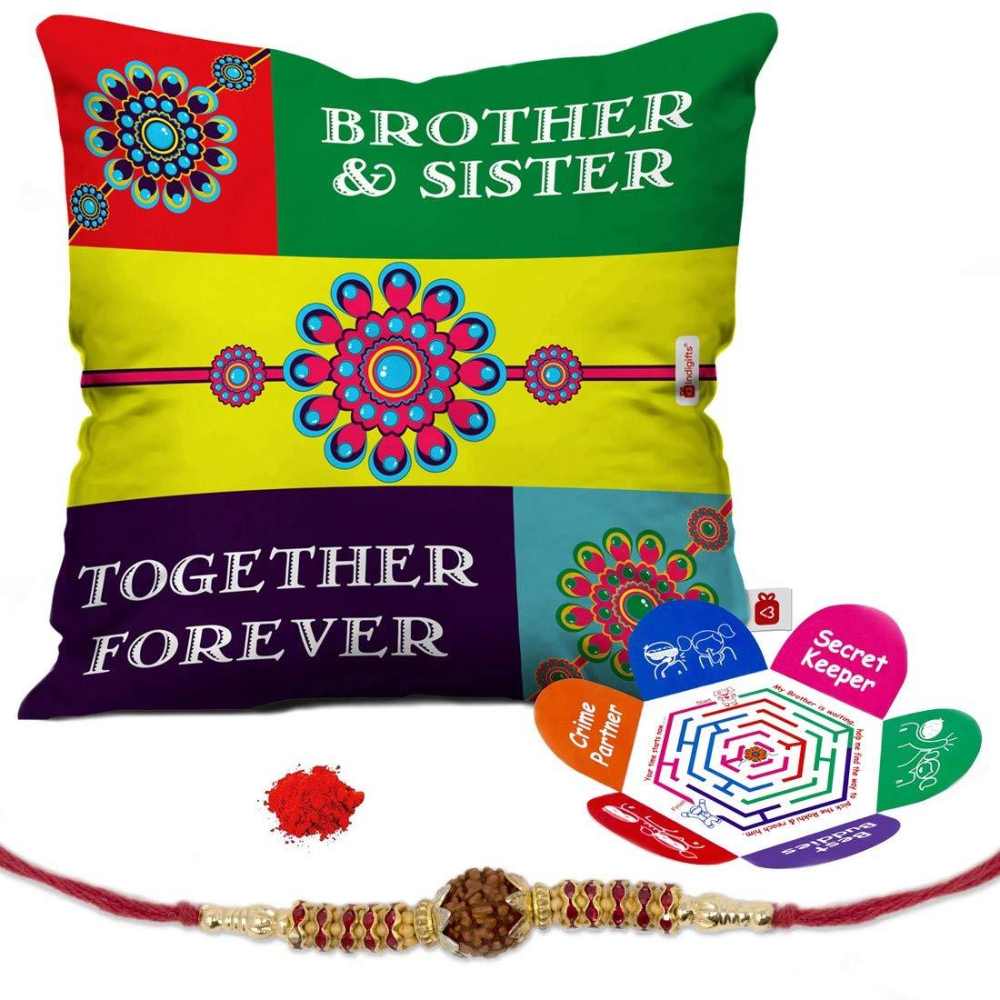 Buy Indi ts Rakhi Gifts for Brother Set of Bro Sis