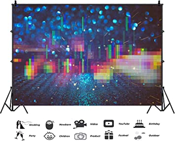 YongFoto 10x9ft Night Light Halos Backdrop Glitter Dots Photography Background Dreamy Bokeh Wedding Birthday Party Banner Interior Curtain Decor Kids Adult Portrait Photo Shoot Studio Props Wallpaper