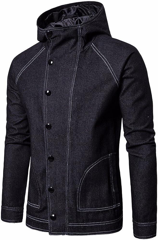 Long Sleeve Shirts Solid Sport Shirt Button Down Jean Coat Hoodies Friends Gifts Mens Tops MISYAA Jackets for Men