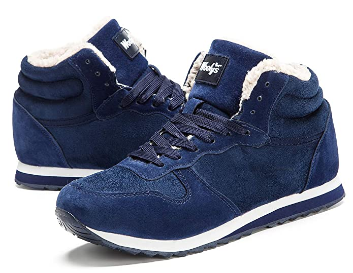 gaatpot Hombre Mujer Botas de Nieve Botas Alta Zapatillas Warm Gefütterte schnürstiefel Guantes 36 - 48, Color Azul, Talla 42.5 EU: Amazon.es: Zapatos y ...