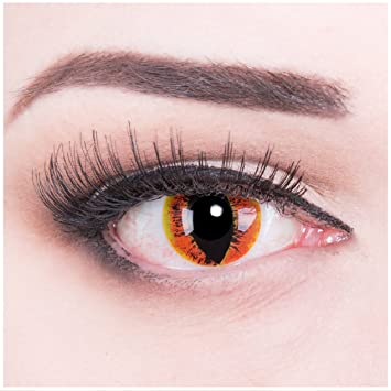 Funnylens 1 Paire colorées Marron Jaune Orange Crazy Fun Dragon Yeux Dragon  Eyes Manticor Année + 08a2a885210f