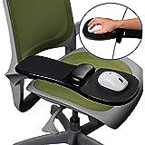 Felimoa コンピュータ肘掛け デスクと椅子両方に取り付け可能 アームレスト リストレスト マウスパッド 疲れにくい 疲労軽減 手首保護 簡単取り付け