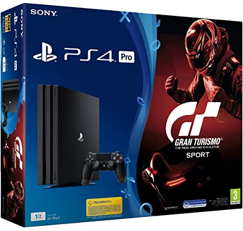 Sony PlayStation 4 Pro + GT Gran Turismo Sport Negro 1000 GB Wifi - Videoconsolas (PlayStation 4 Pro, Negro, 8000 MB, GDDR5, AMD Jaguar, AMD Radeon): Amazon.es: Videojuegos
