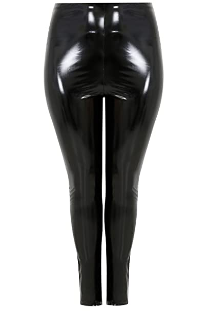 1fc7685e726dd YoursClothing Plus Size Womens Limited Collection Vinyl Leggings ...