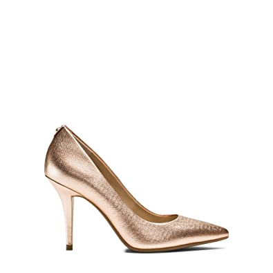 24ba0c96d2 Amazon.com | Michael Kors Womens Antoinette Leather Closed Toe Classic Pumps,  Pink, Size 6.5 | Pumps