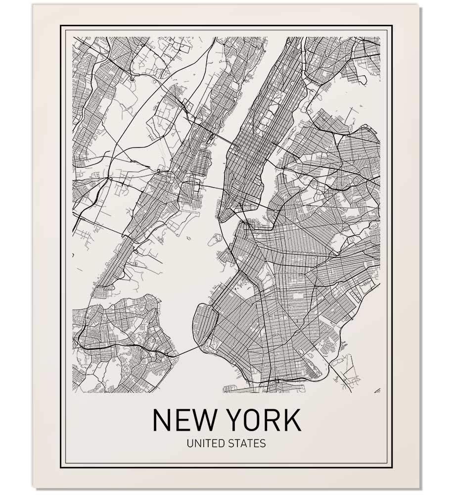 Amazon Com New York Poster New York Map New York City City Map