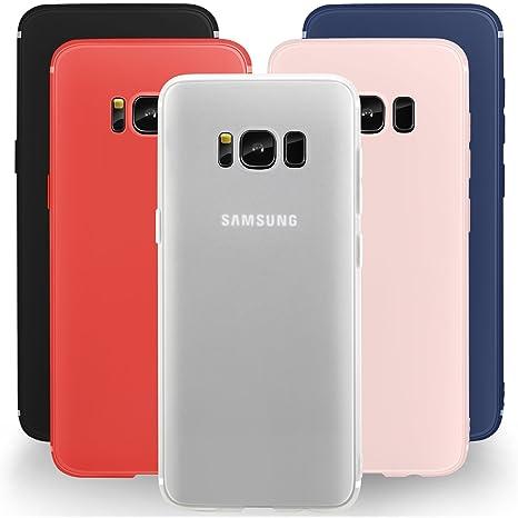 Leathlux Funda Galaxy S8 [5 PCS], 5X Carcasa [Ultra Delgado] Suave TPU Silicona Back Bumper Protector Tapa Flexible Gel 5 Unidades Case para Samsung ...