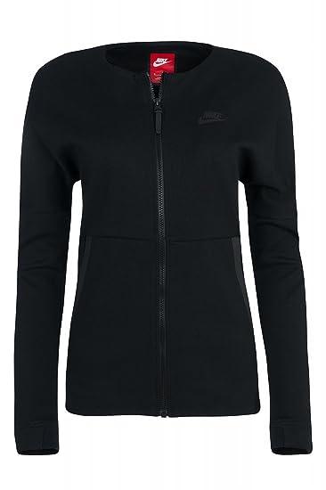 62461885c4a8 Nike Women s Tech Fleece Knit Black Zip Up Jacket at Amazon Women s  Clothing store