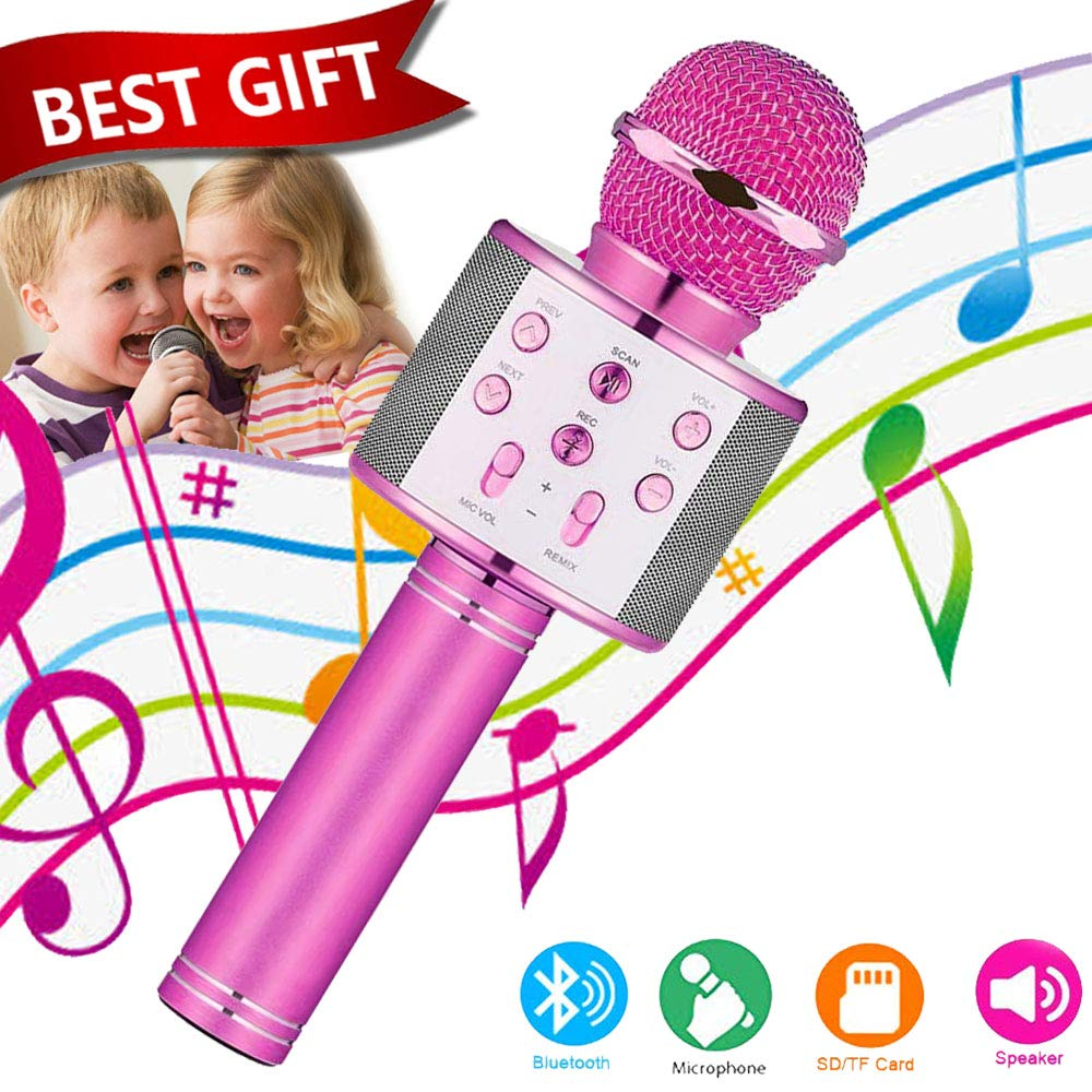 Toys For 5-14 Years Old Girl Gifts,Niskite Wireless Bluetooth Karoake Microphone For Kids Age 4-12,Best Fun Birthday Gifts For 6-13 Years Teens Girls Boys Purple by Niskite (Image #1)