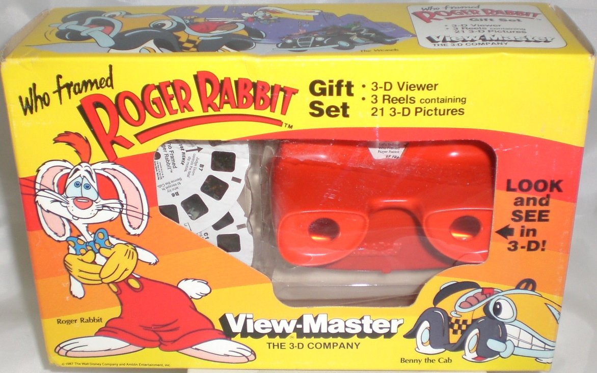 View Master Disney's Who Framed Roger Rabbit Gift Set - 3 Reels and Classic 3D Viewer