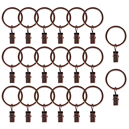 19c6be13c0e Image Unavailable. Image not available for. Color  AMAZECO Curtain Clips  Rings Strong Metal Decorative Drapery ...