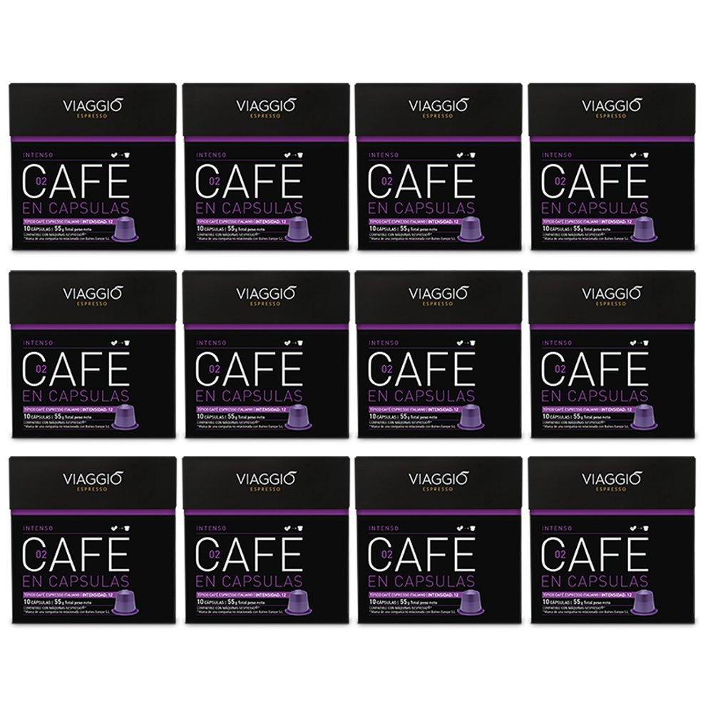 VIAGGIO ESPRESSO - 120 Cápsulas de Café Compatibles con Máquinas Nespresso - INTENSO: Amazon.es: Alimentación y bebidas