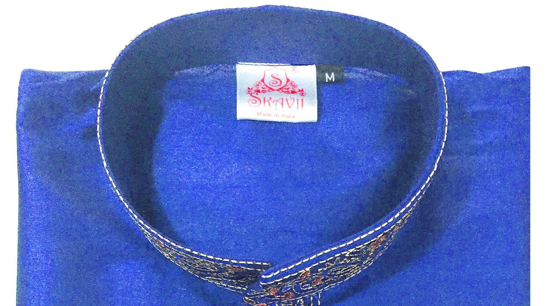 Indian Long Sleeve Kurta Pajama Dress Men Salwar Kameez Party and Wedding Wear -XL by SKAVIJ (Image #7)