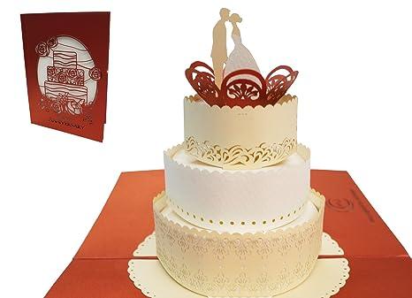 Biglietto Auguri Matrimonio Pop Up : Lin pop up di matrimonio biglietti pop up biglietti matrimonio