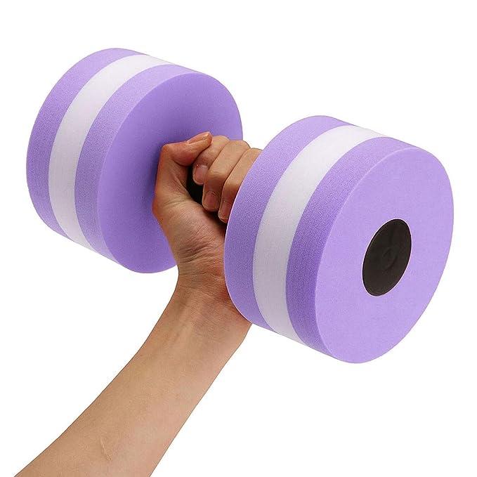 Aolvo - Mancuernas de aeróbicos para agua, goma EVA, para ejercicios de resistencia en piscina, equipo para entrenamiento, yoga, fitness, mejora y deportes ...