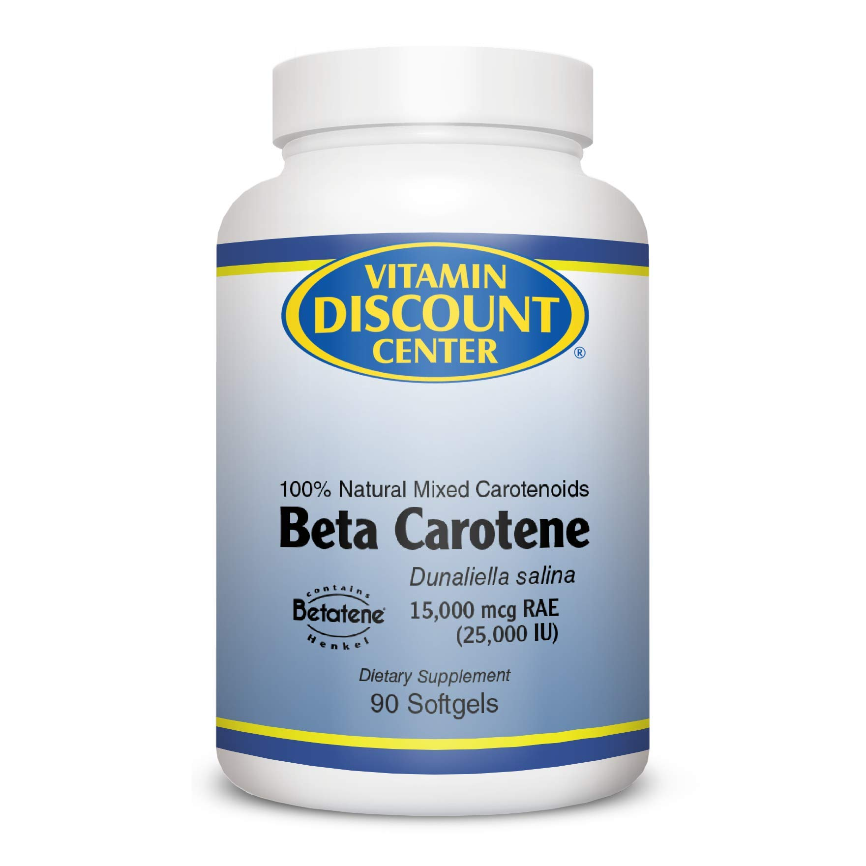 Vitamin Discount Center Beta Carotene 25000 IU, 90 Softgels by Vitamin Discount Center