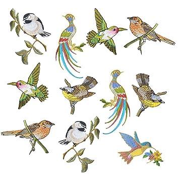 wicemoon 11 pcs Fashion Cute Animal Bird Patches Eisen auf Patch ...
