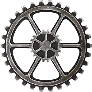 Sumnacon 9.4 Inch Industrial Steampunk Style Gear Wheel Wall Decoration, Vintage Gear Wheel Art Craft Wall Decor for Home/Bar/Office Hotel/Cafe/Resturant, Hexagon
