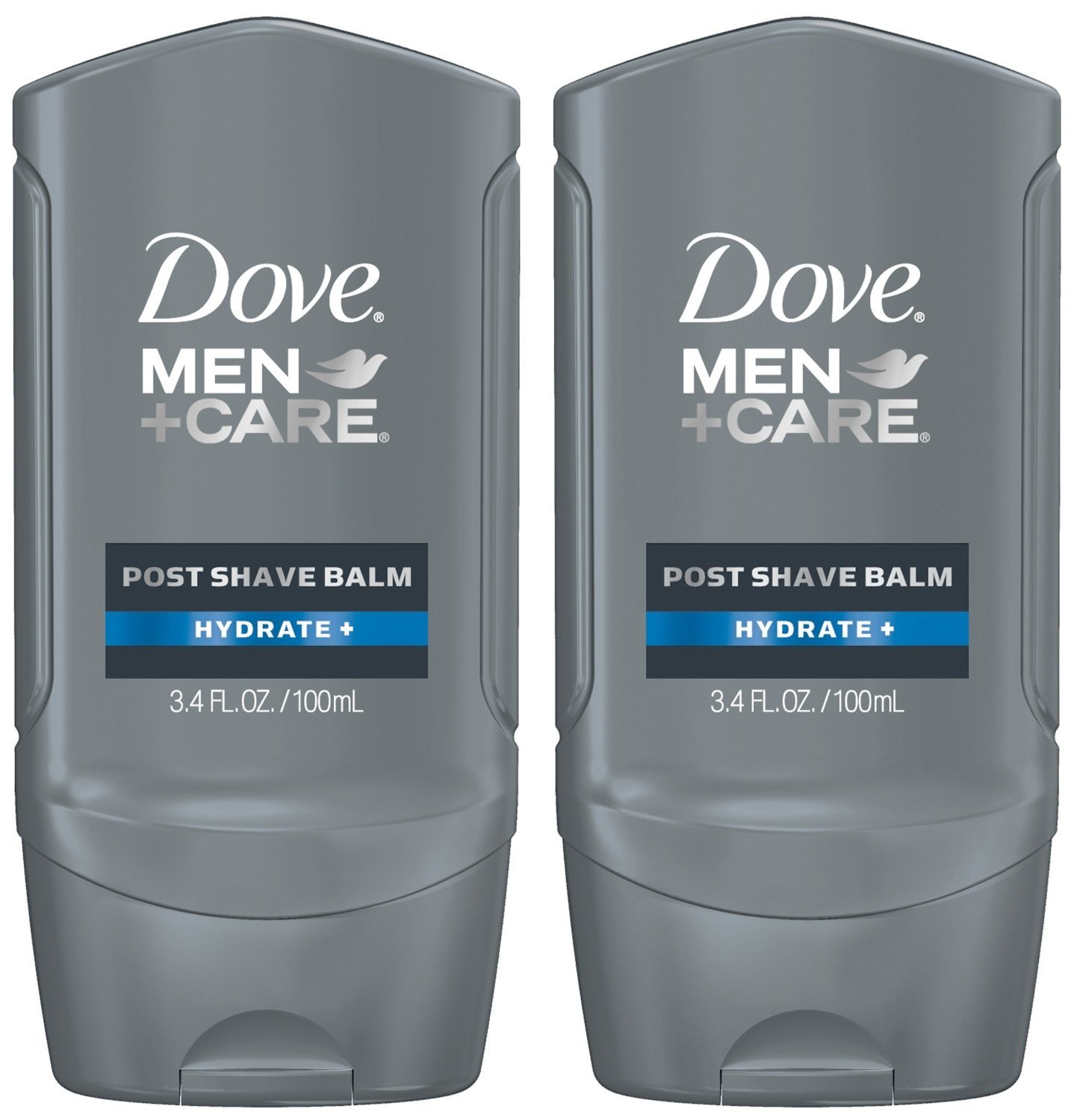 Dove Men+Care Post Shave Balm, Hydrate+, 3.4 Fl Oz, Pack of 2