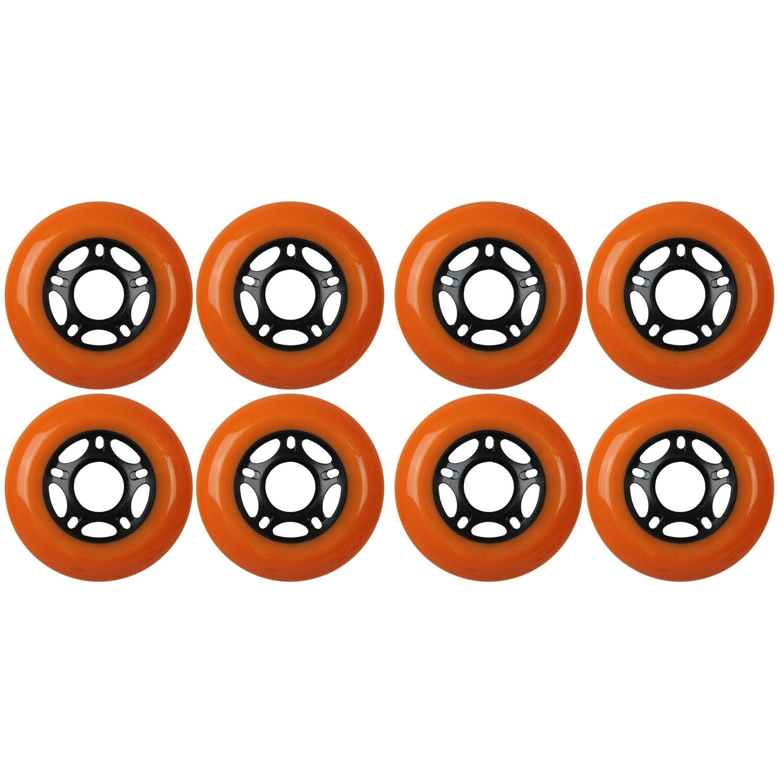 KSS Outdoor Asphalt Formula 89A Inline Skate X8 Wheels, Orange, 72mm by KSS
