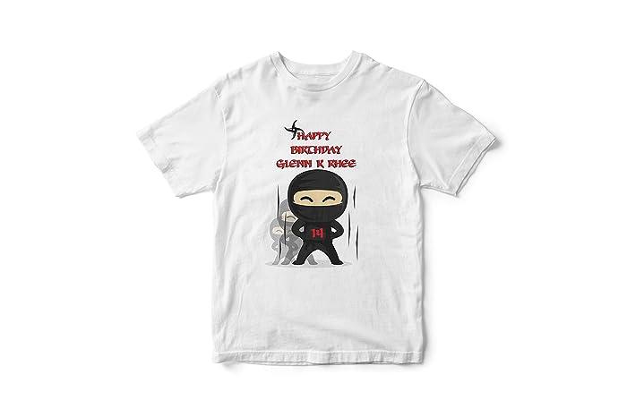 923e9d47efcd8 Amazon.com: Custom Ninja Kid Birthday Shirt, Karate Birthday Shirt ...