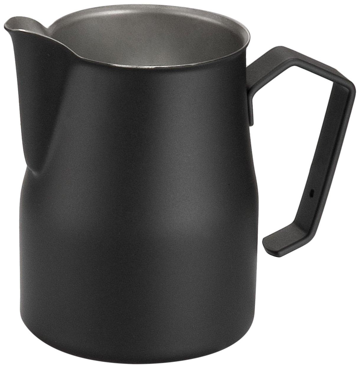 Motta Stainless Steel Professional Milk Pitcher/Jugs, 11.8 Fluid Ounce, Black by Metallurgica Motta