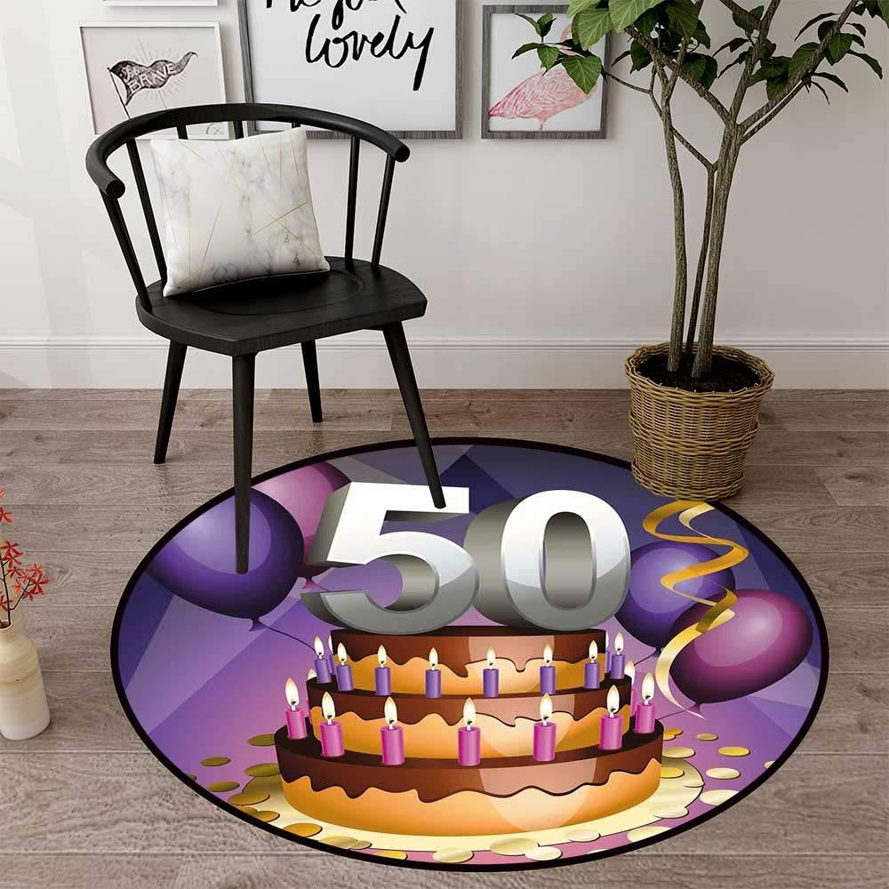 Circle Baby フロアマット アクティビティ ジム ラウンド インドア フロアマット 玄関 サークル フロアマット オフィス 椅子 木製 床 ラウンド マット リビングルーム用 パターン 1'3