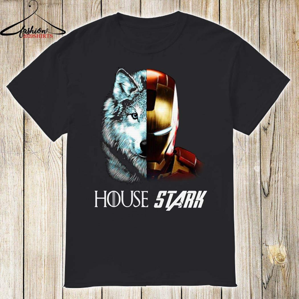 House Stark Wolf Tony Stark T-shirts Sweatshirts Hooodies Long Sleeve