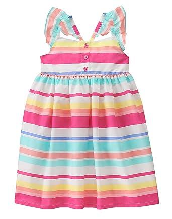 09cb927254ca Amazon.com: Gymboree Baby Girls' Toddler Multi Stripe Dress: Clothing