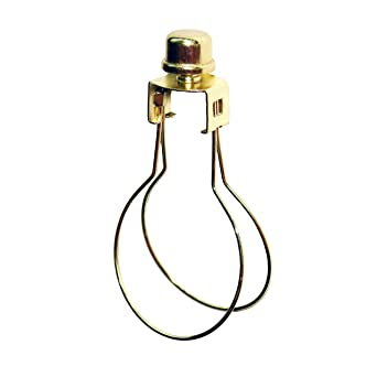 Milton Douglas Lamp Co. Clip-On Light Bulb Lamp Shade Adapter with Shade  Attaching